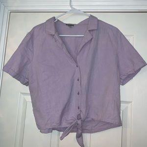 Purple Button up Shirt